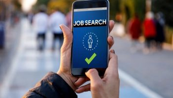 Job Search on mobile device